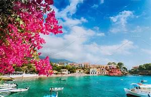 Beautiful Assos village scenery | High-Quality Nature Stock Photos ~ Creative Market
