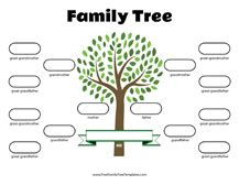 generation family tree siblings template  family