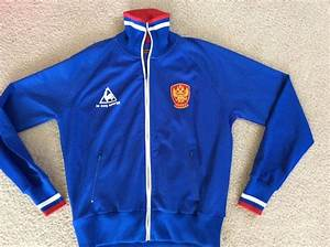 Vintage Le Coq Sportif Russia National Team Soccer Warm Up ...