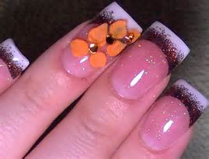 Acrylic nails tutorial my for thanksgiving
