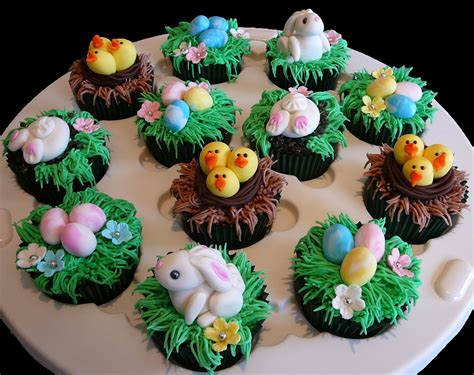 Ideas For Easter Cupcakes by Easter Cupcakes Featuring Bunnies In Nests And