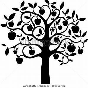 Apple Tree Clipart Black And White | www.pixshark.com ...