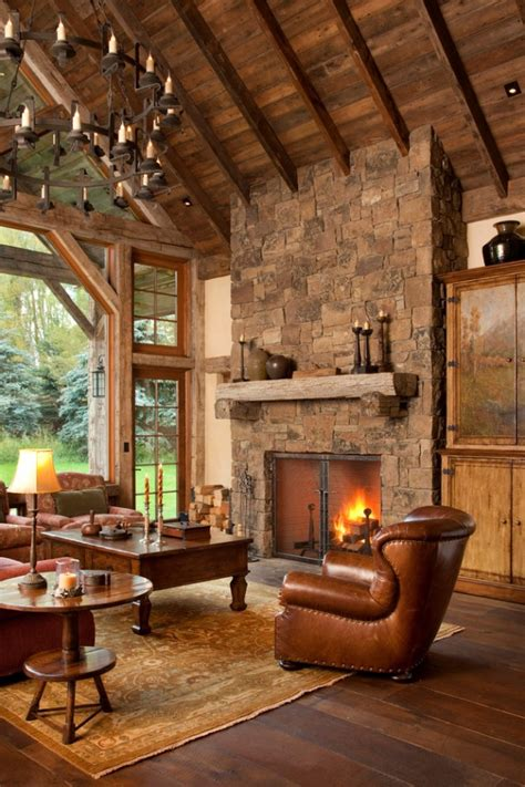 warm cozy rustic living room designs   cozy winter