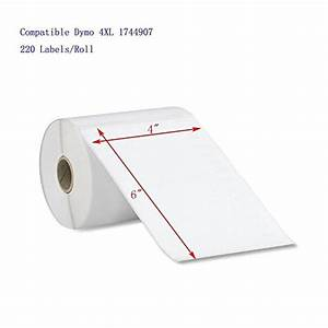 dymo 4xl labels 1744907 compatible 6 rolls pack 4x6 With dymo 4x6 labels