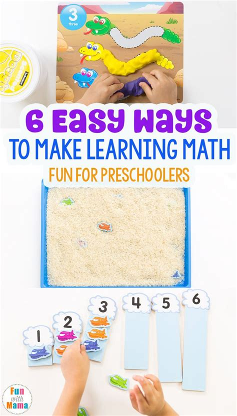 6 Easy Ways To Make Learning Math Fun!  Math, Homeschool And Activities