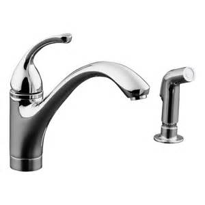 kohler kitchen faucet shop kohler forte polished chrome 1 handle low arc kitchen faucet with side spray at lowes