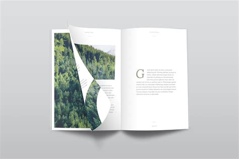 A4 210x297mm landscape magazine with matte and glossy finish. Free PSD Magazine Mockup Top View - CreativeBooster