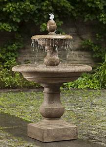Caterina fountain tiers from heaven with a multi tiered for Backyard water fountains