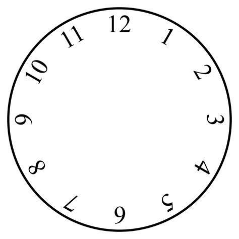 Clock Template Clock Template Blank Kiddo Shelter