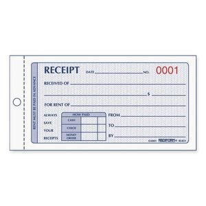 wire bound money rent receipt books 50 sheet 2 part