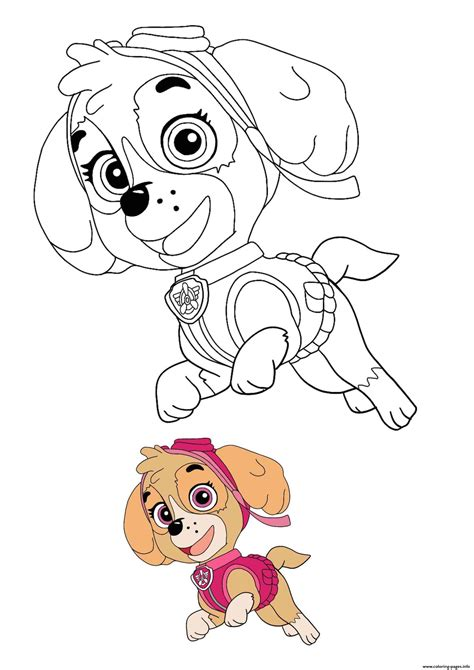 skye dog coloring pages printable