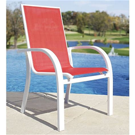 aluminum sling stacking chair sam s club