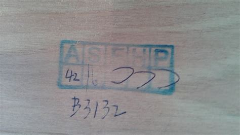 asfhp  stamped   bottom   solid wood cabinet