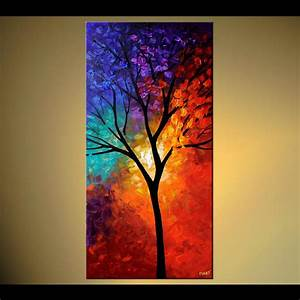 """48""""x24"""" Tree of Life - PRINT STRETCHED & EMBELLISHED ..."""