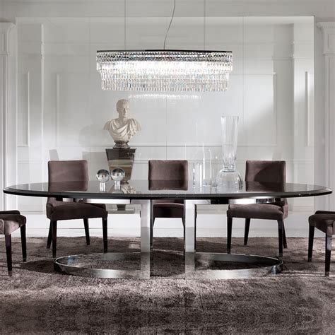 High End Modern Oval Dining Set  Juliettes Interiors