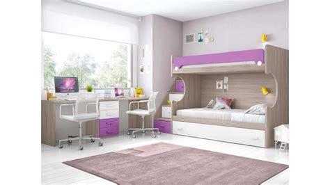 bureau gigogne lit superposé enfant avec bureau et lit gigogne glicerio