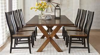 rooms to go dining room sets lakes brown 5 pc 84 in rectangle dining room