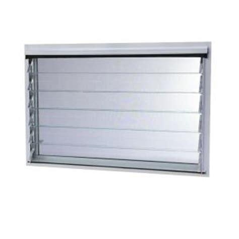 tafco windows      jalousie utility louver aluminum window white jalw