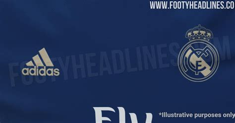 real madrid kit navy gold footy headlines