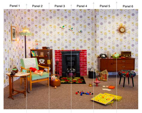 1950s Living Room Scene In Wallpaper [3×2] In Stock Funny Christmas Party Games Make Up Company Parties Email Invitations Ideas For Kids Crowne Plaza Santry Snl Girl At A On Budget