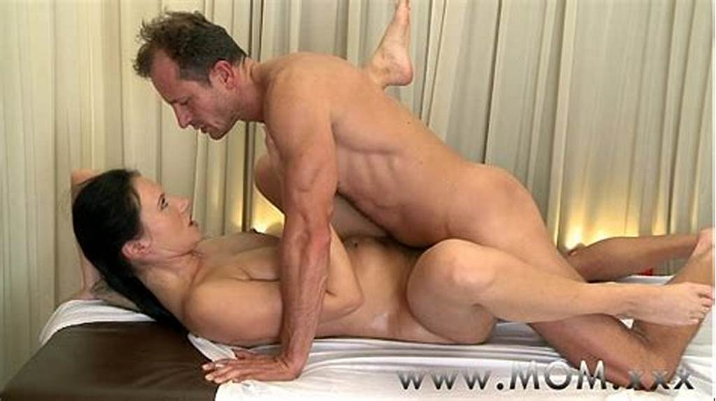#Mom #Brunette #Has #The #Massage #Of #Her #Life
