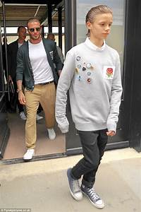 Romeo Beckham looks the spitting image of his father ...