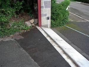 acces garage en pente 4 probl232me installation rail de With acces garage en pente