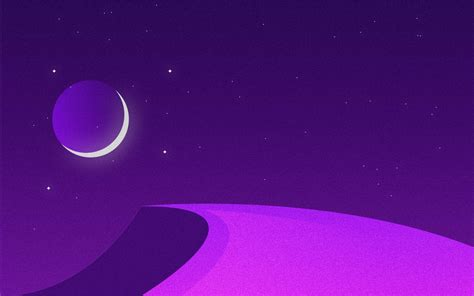wallpaper  moon ramadan night purple minimal