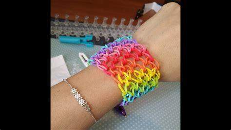 bracelet elastique tuto tuto bracelet 233 lastique manchette rainbow