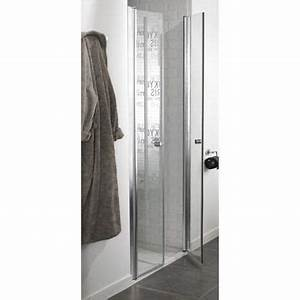 porte de douche battante premium sensea verre securit With sensea porte douche