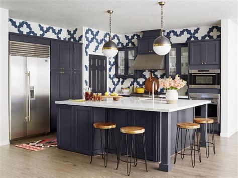 granada kitchen cabinets before and after pattern filled kitchen makeover hgtv 1280