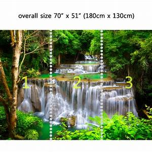 Wall Mural Waterfall in Deep forest , Peel and Stick