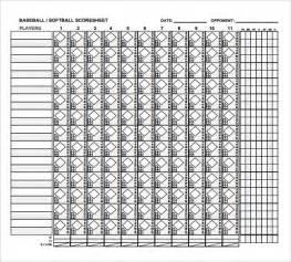 Printable Baseball Score Sheets PDF