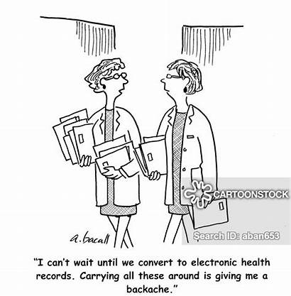 Medical Electronic Health Billing Records Cartoon Cartoons