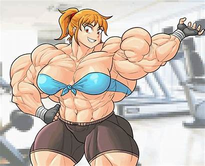 Deviantart Biceps Flex Animation Anime Muscle Muscles