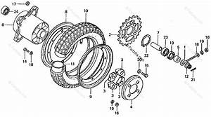 Honda Motorcycle 1979 Oem Parts Diagram For Rear Wheel