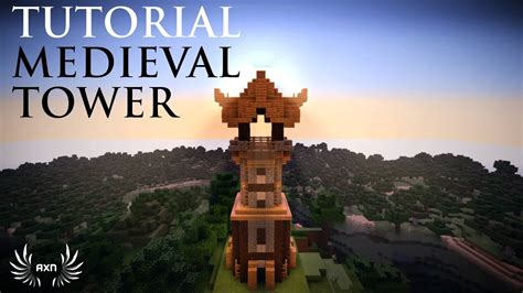 minecraft   build  simple medieval guard tower youtube