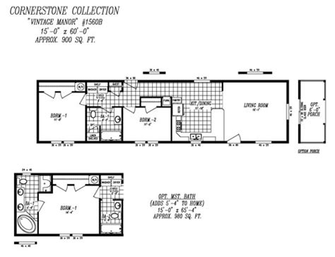 14x40 mobile home floor plans models cornerstone singles heritage home center
