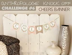 Anthropologie challenge day 6 alphabet free banner for Diy letter banner