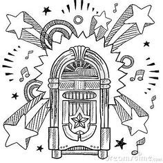 jukebox coloring page fun coloring pages  kids