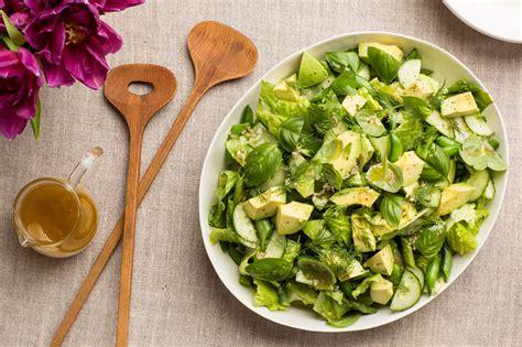 picture of green salad all green salad with citrus vinaigrette recipe epicurious com