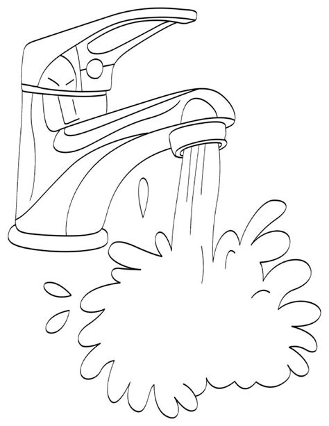 water coloring pages    print