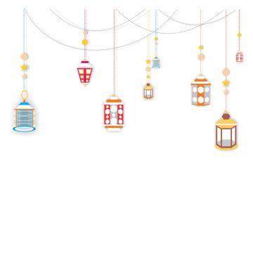 islamic style chandelier border png lamp ramadan kareem
