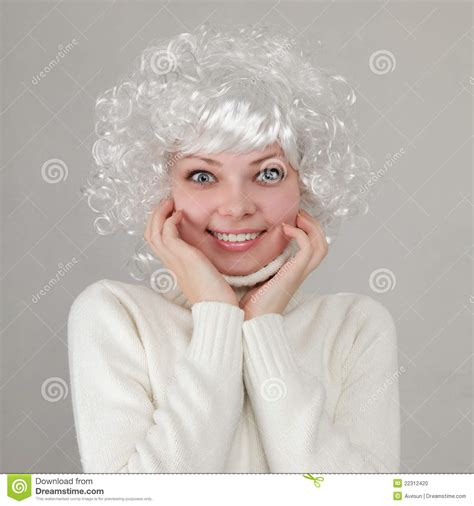 Beautiful Girl With White Hair Stock Photo Image Of