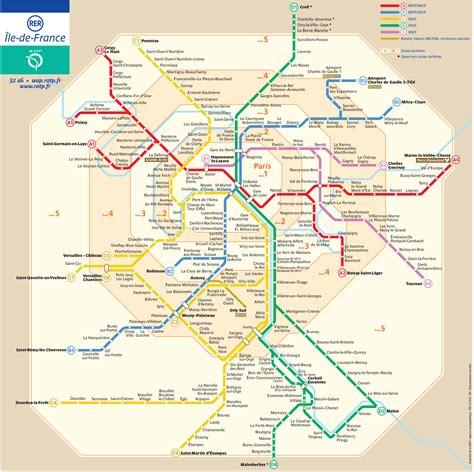 Carte Metro Rer by Plan Et Carte Du Rer Et Transilien De Stations Et