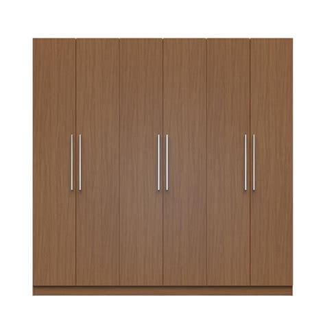 Kitchen Cabinet Organization Ideas - manhattan comfort eldridge 2 0 91 in maple cream 3 sectional wardrobe with 4 drawers and 6