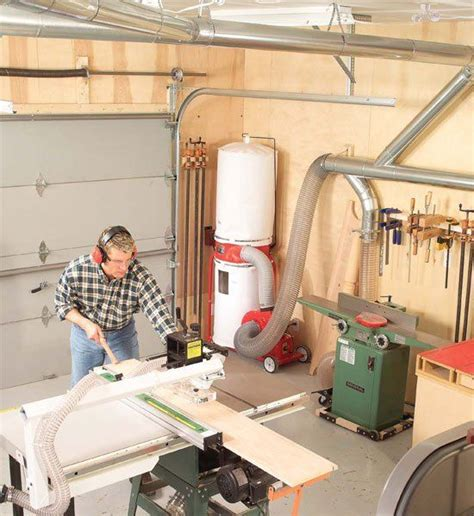 aw extra central dust collection  woodworkers shop