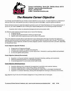 2016 resume objective example samplebusinessresumecom With career objective for resume