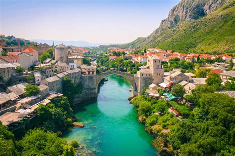 beautiful picture of mostar bosnia and herzegovina europe