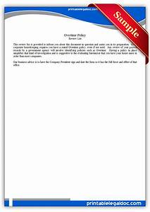 Sample Of Power Of Attorney Free Printable Overtime Policy Form Generic